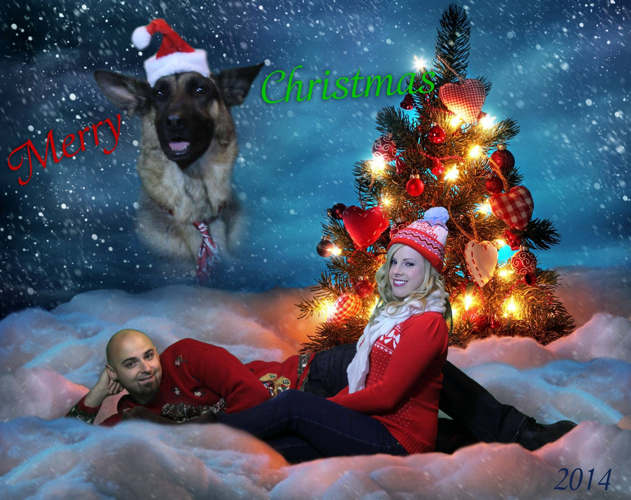 Compositing: Silly Christmas Card