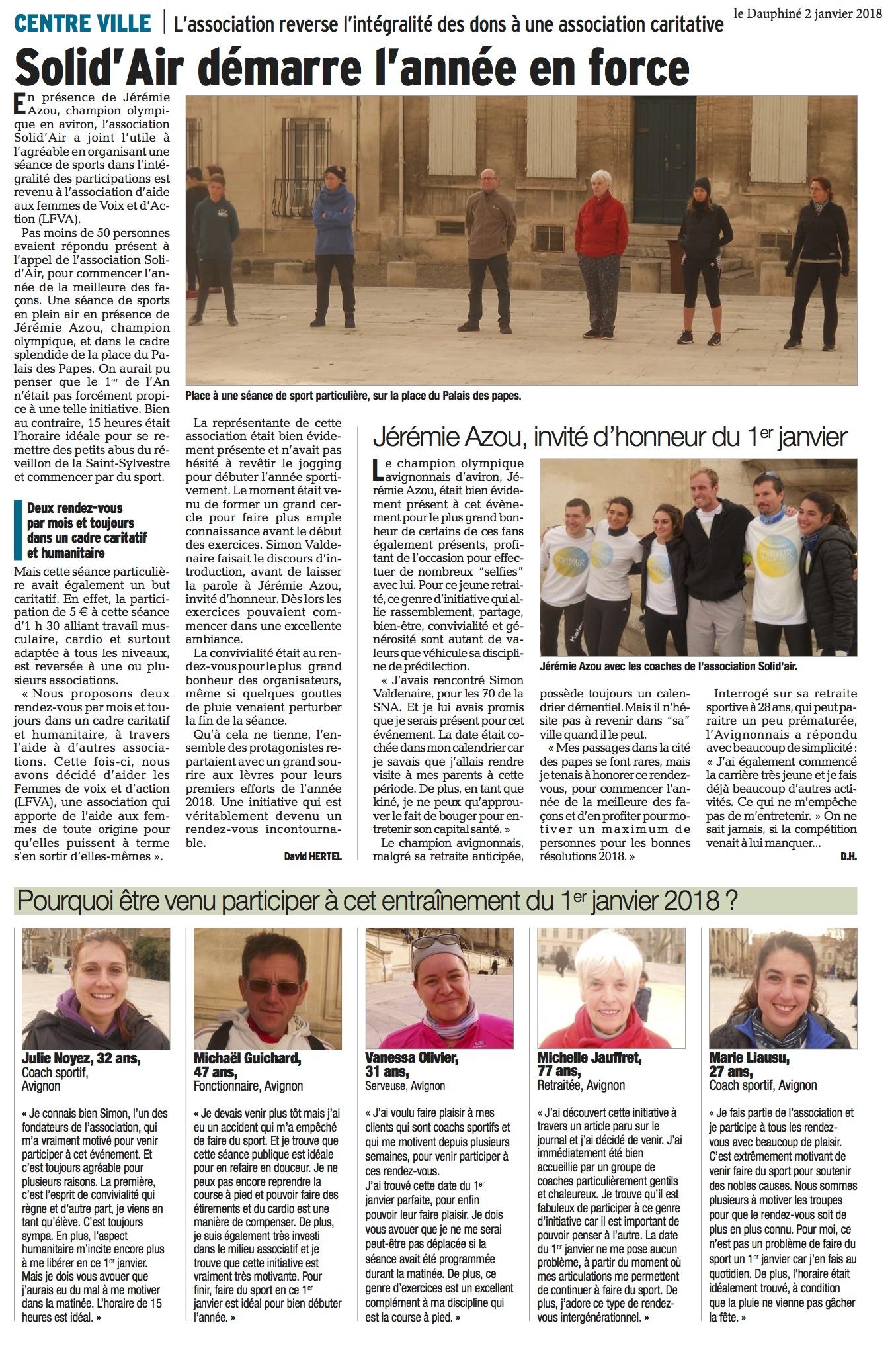 020118 - Vaucluse Matin - 2 janvier 2018