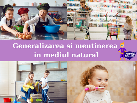 Generalizarea si mentinerea abilitatilor in mediul natural