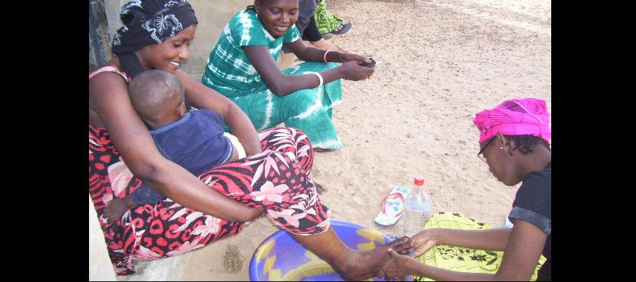 Senegal Foot Washing