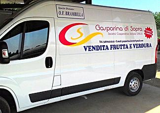 Cascina Gasparina furgone consegna a domicilio