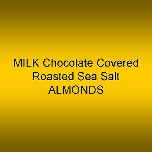 Milk Chocolate Covered Sea Salt Roasted ALMONDS