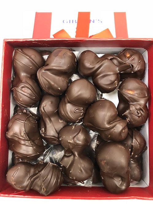 DARK Chocolate Covered Roasted Sea Salt Macadamia Nuts