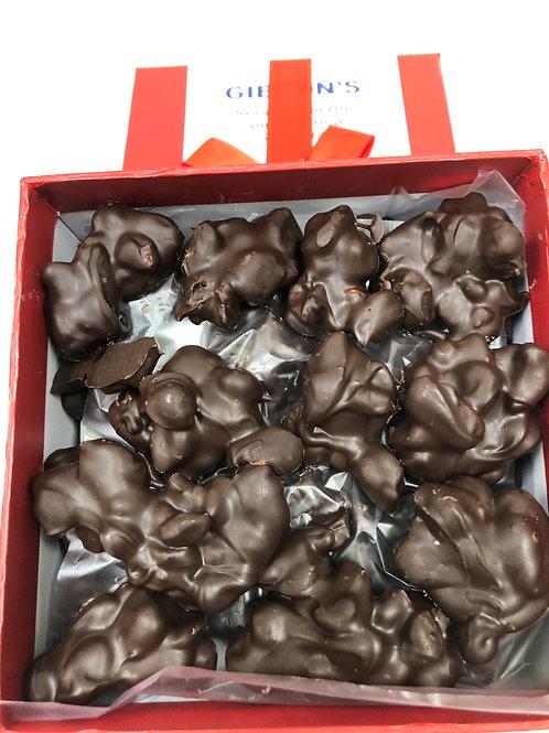 DARK Chocolate Covered Honey Roasted Sea Salt Peanuts