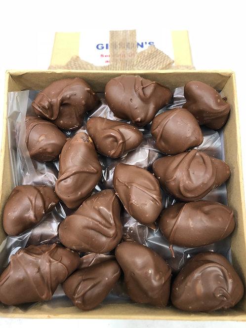 MILK Chocolate Covered Roasted Sea Salt Brazils