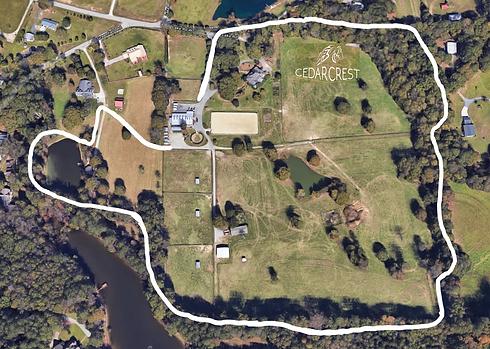 Cedar Crest Farm - Aerial View with Path