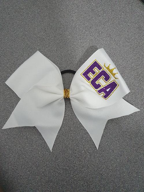 ECA White Bow with Logo