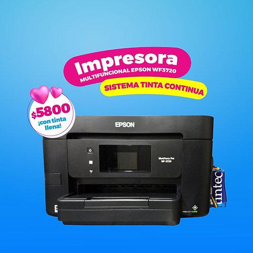 Multifuncional Epson WF-3720 con Sistema de Tinta Continua