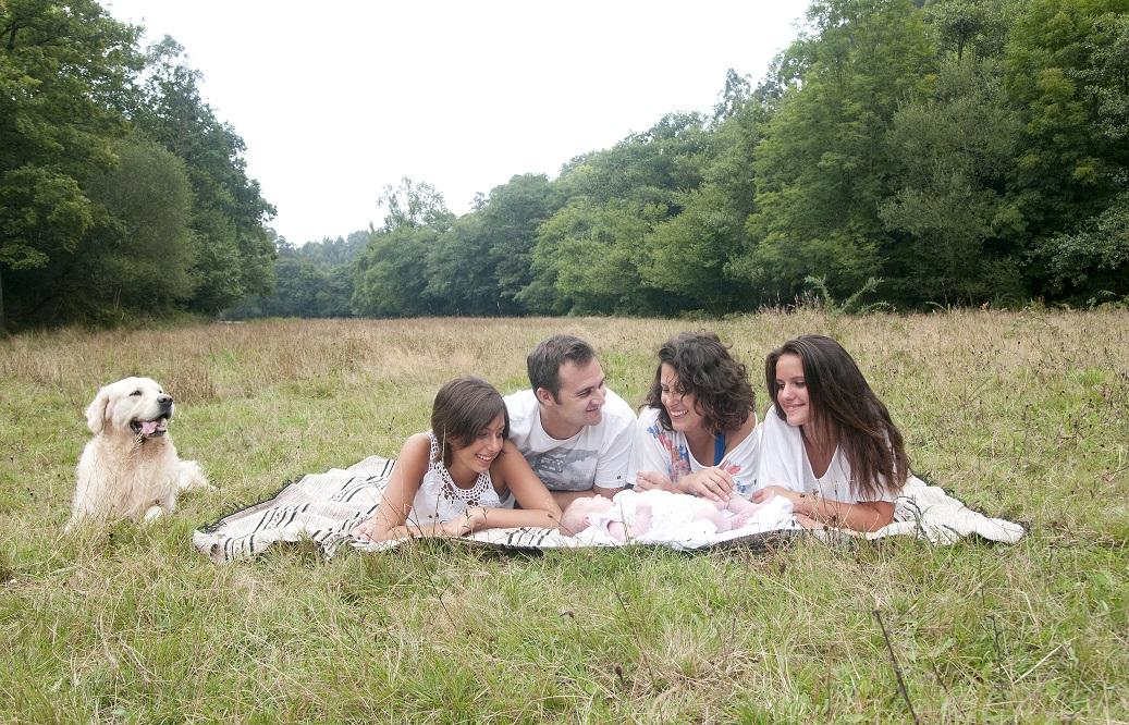 Foto de familia en el campo