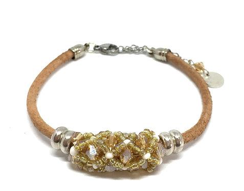 """Bracelet """" Spirale russe""""  Nude & Beige"""