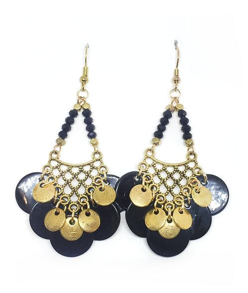 Bo chandelier doré & noire