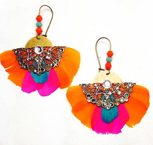 """Boucles d'oreilles Butterfly """"Tropicale"""""""