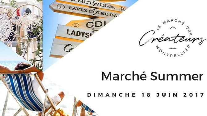 """Marché du Lez """"Summer"""", Montpellier Dimanche 18 Juin 2017 10h-18h"""