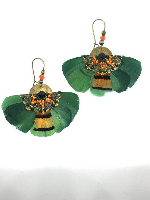 """Boucles d'oreilles Butterfly """"Vert émeraude"""""""