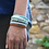 Thumbnail: Bracelet multirangs blue lagon