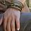 Thumbnail: Bracelet Multi-rangs kaki/mordoré
