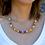 Thumbnail: Ras de cou Africa Queen orange, violet et blanc