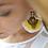 """Thumbnail: Boucles d'oreilles ethnique plumes Butterfly """"White & sun"""""""