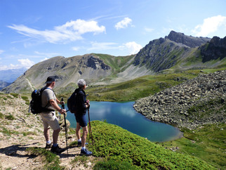 Le Lac de l' Oule depuis le Col du Granon