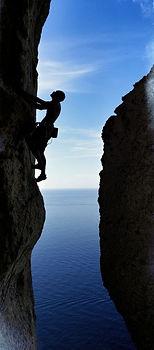 Escalade, bord de mer, Cap Canaille, Cassis