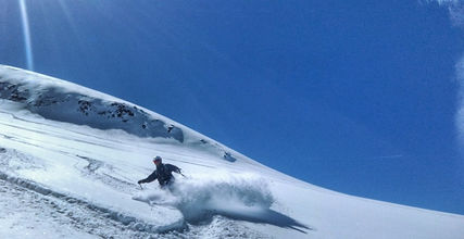 Freeride, Glacier de la Girose, La Grave