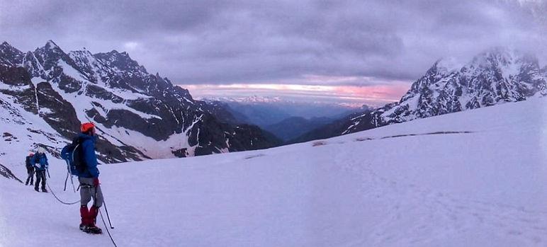 Alpinisme, Glacier Blanc, Ecrins