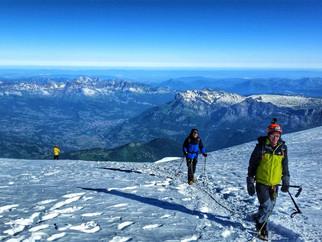 Au sommet du Mont Blanc, avec Nicolas Gros, Guide de Haute Montagne