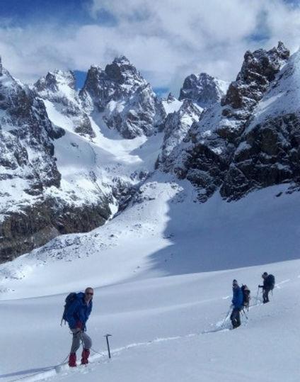 Alpinisme, Glacier du Sélé, Ecrins