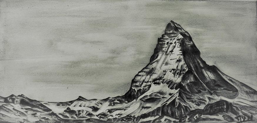 Le Cervin Dessin en Montagne Samantha NICOLAS