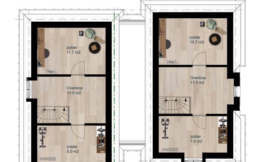 Verkoop plattegrond - 2e verdieping - Vi
