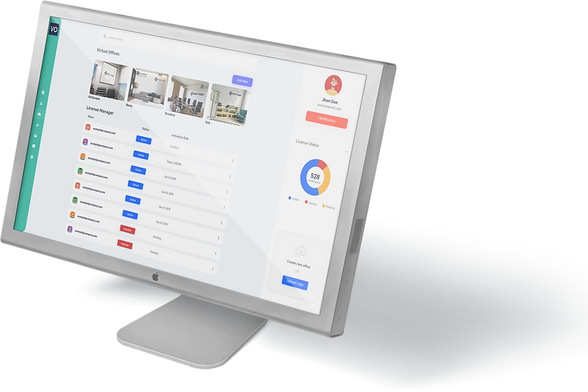 VirtualOffice commercial dashboard