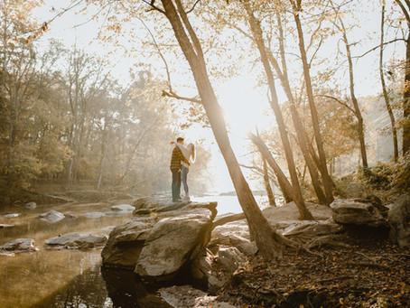 Tyler + Haley's Riverside Engagement