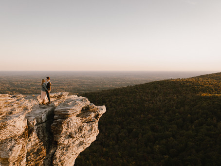 Audrey + Bailey's Sunset Session at Hanging Rock