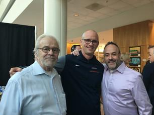 Dad & I meeting UConn Coach Dan Hurley!  2018