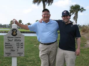 Dad & Scott - Our Family Foursome!