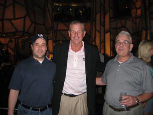 Dad & I meeting the Legend Jim Calhoun!