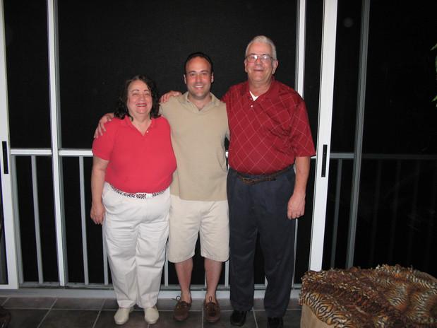 Mom, Dad & Scott in Florida.  2008
