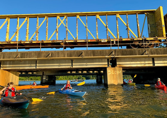 Kayak and trains with Chattanooga Guided