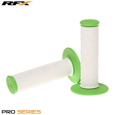 RFX Pro Series 20300 Dual Compound Grips White Centre (White/Green) Pair