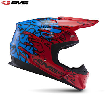 EVS T5 Ecto Adult Helmet Red/Blue