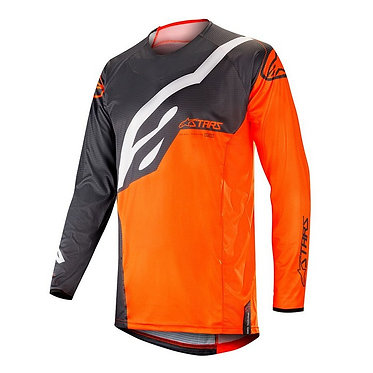 ALPINESTARS 2019 TECHSTAR FACTORY JERSEY ANTHRACITE/ORANGE FLUO