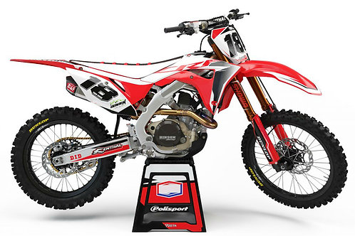 Diffusion (Black/Red) Series – Honda CR / CRF Graphics Kit