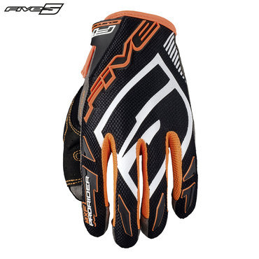 Five MXF Pro Rider S Adult Gloves Black/Flo Orange