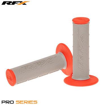 RFX Pro Series 20500 Dual Compound Grips Grey Centre (Grey/Orange) Pair