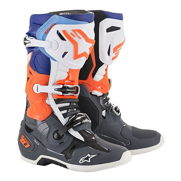 TECH 10 BOOT (COOL GRAY/ORANGE FLUO/BLUE/WHITE