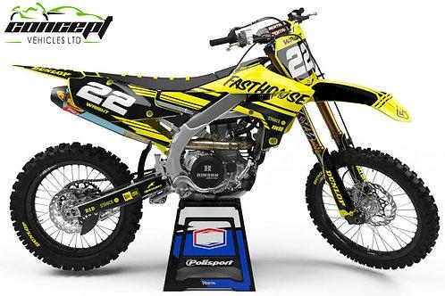 SPLIT Series (Black/Yellow) – Yamaha YZ/YZF/WR Graphics Kit