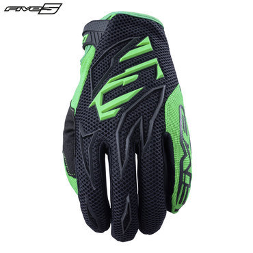 Five MXF3 Adult Gloves Black/Flo Green