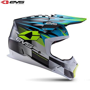 EVS T5 Speedway Adult Helmet (Blue/Hi Viz Yellow)