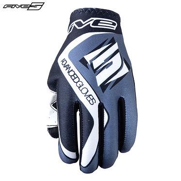Five MX Practice Adult Gloves Grey/Black
