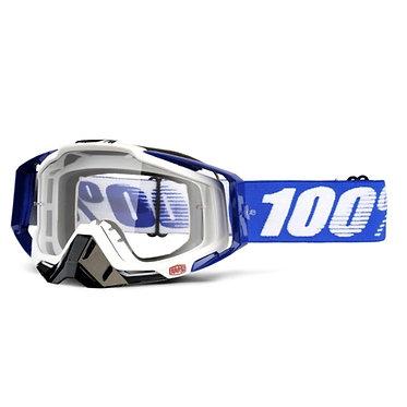 100% Racecraft Goggles Colbalt Blue / Clear Lens